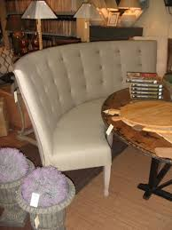 Curved Settees And Sofas by Squeeze Your Guest With Dining Room Settee Curved Settee White