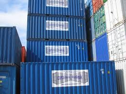 stack of blue 20ft containers stack 20ft storage containers