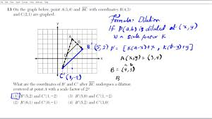 how to dilate a line common core geometry regents youtube