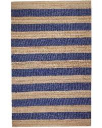 7 jute rug big deal on jani mona blue striped jute rug 5 x 7 5x7