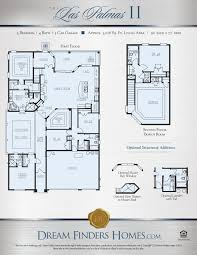 Single Family Homes Floor Plans by Las Palmas Ii Dream Finders Homes