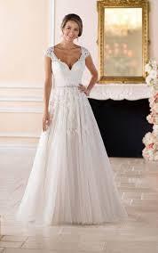 romantic lace plus size wedding dress with cameo back stella york
