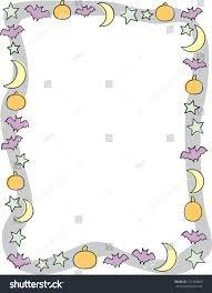 childrens halloween cartoons fun halloween night border cartoon stars stock vector 131454920