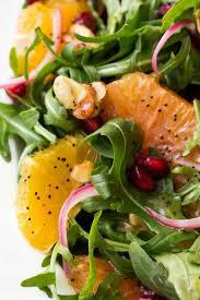 arugula orange salad with lemon ginger dressing the café sucre