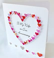 handmade 3d anniversary card personalised personalized to