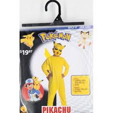 Pikachu Halloween Costume Kids Pokemon Pikachu Child Halloween Costume Walmart