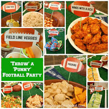 michelle paige blogs u0027throw u0027 a punny football party