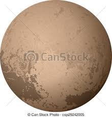 vector clipart dwarf planet pluto isolated white
