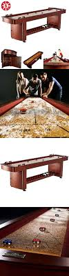 barrington 9 solid wood shuffleboard table shuffleboard 79777 barrington 9 classic wood shuffleboard with