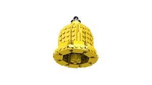 fungineering lego bell christmas tree ornament