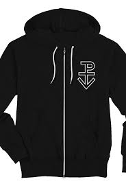 seal zip up hoodie black outerwear pierce the veil outerwear
