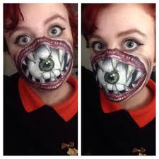 panda halloween makeup i have been playing around with face painting since last halloween