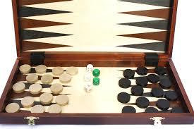 Wooden Chess Set Babushkas Wooden Chess Set Combination Tournament With Backgammon