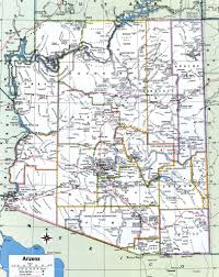 Map Of United States With Cities by Arizona County