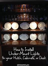how to install lights under cabinets how to install under mount lights on your hutch cabinets desk