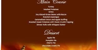 Thanksgiving Dinner Menu Template Menu Templates U2013 Printable Samples