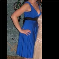 forever 21 royal blue dress with black belt bow from christina u0027s
