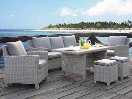 canape jardin resine tressee salon jardin olinda résine tressée beige 7 places table salon