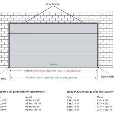 standard size garage standard garage door size uk mm wageuzi