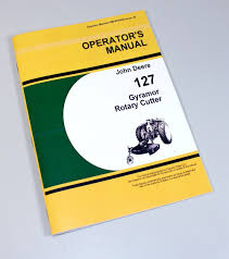 john deere 127 gyramor rotary cutter operators owners manual
