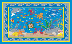 Fish Bath Rug Fish In The Sea Rug Contemporary Kids Rugs By Kidcarpet Bathroom