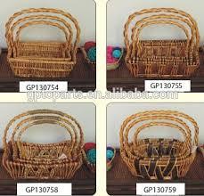 Camping Gift Basket Kids Willow Flower Basket Camping Basket Decorative Willow Craft