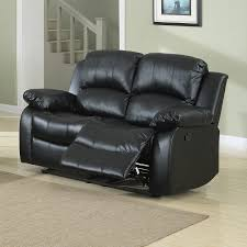 Black Faux Leather Sofa Shop Homelegance Cranley Casual Black Faux Leather Reclining