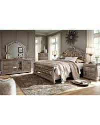 ashley bedroom amazing deal on birlanny silver upholstered panel bedroom set by ashley