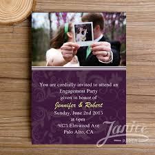 purple photo engagement invitation kits wfei001 wfei001
