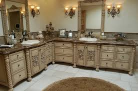 Real Wood Vanities Antique Real Wood Vanity With Storage Drawers White Wall Paint