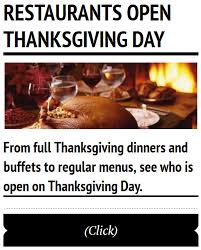 restaurants open thanksgiving day in fredericksburg
