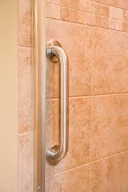 Bathroom Handrails For Elderly Bathroom Bath Room Shower With Vertical Grab Handles On Beige