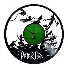 peter pan special design handmade vinyl record wall clock