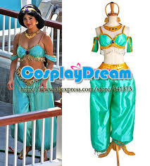 Princess Jasmine Halloween Costume Women Cosplay Costume Patterns Picture Detailed Picture