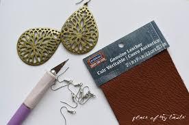 earrings diy diy leather earrings place of my taste