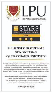 lpu manila campus lpu rated three stars by qs stars