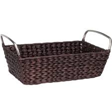 Bathroom Wicker Shelves by Bathroom Storage Basket In Wicker Baskets