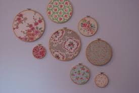 how to make a wall decoration out of cherished fabrics vintage