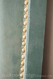 Nail Trim For Upholstery Diy Headboard Tutorial With Individual Brass Nails Cuckoo4design