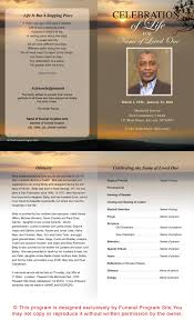 beautiful funeral programs outdoor theme kenya letter single fold funeral program template