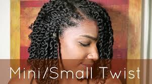 small hair hair mini small twist tutorial
