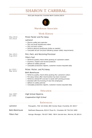 Sample Resume For Kitchen Hand by Packer Resume Samples Visualcv Resume Samples Database