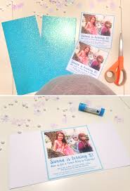 Frozen Invitation Cards Diy Frozen Party Invitation Tutorial Free Printable At Home