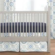 Denim Crib Bedding Blue Modern Medallion Crib Bedding Carousel Designs