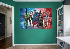 justice league mural wall decal shop fathead for justice league justice league fathead wall mural