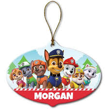 personalized ornament paw patrol pups