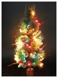 pre lit mini artificial tree multicolor lights with