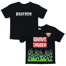 monster jam grave digger uniform black shirt halloween