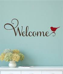 Welcome Home Decor Welcome Bird Vinyl Decal Wall Stickers Letters Words Entryway Home