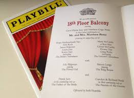 playbill wedding program playbill theater wedding program or invitation 8 page broadway
